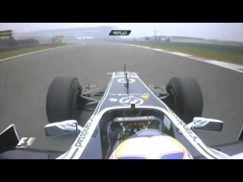 F1 2011 - Paul di Resta & Pastor Maldonado [Spins][China#Practice][HD]