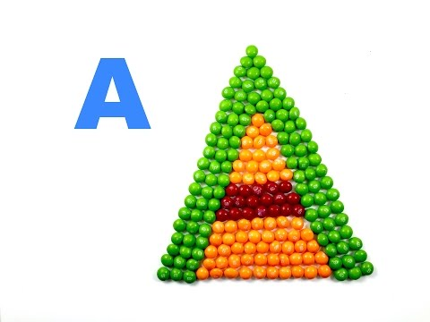 Learn ALPHABETS with smarties | Learning ABC| kids abc activity