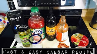 Classic Caesar Cocktail Recipe || Update Vlog