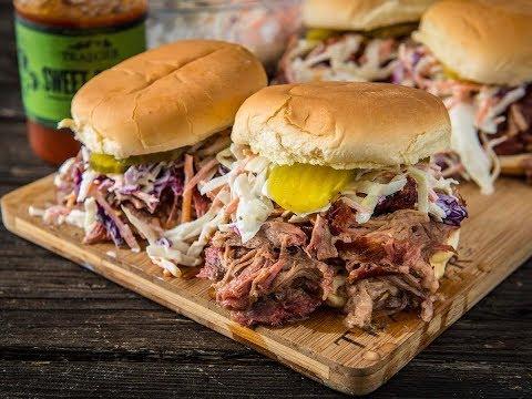 BBQ Pulled Pork Sandwich   Traeger Wood Pellet Grills