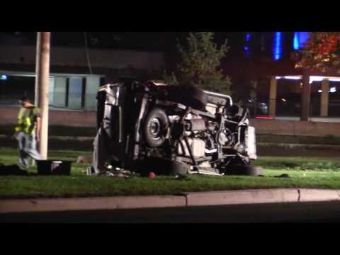 Secaucus NJ Serious Accident Overturned Vehicle Route 3 West @ Paterson plank Rd Oct 3rd 2016