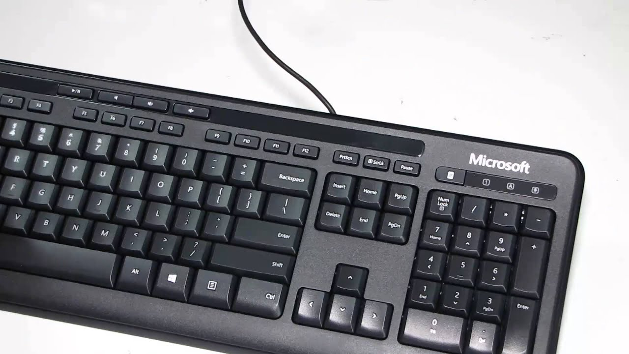 microsoft 600 keyboard mouse set youtube. Black Bedroom Furniture Sets. Home Design Ideas