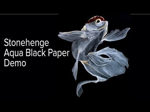 Cheap Joe's 2 Minute Art Tips - Stonehenge Aqua Black Paper Demo