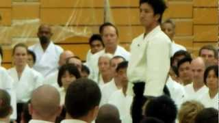 Aikido stage at the 11th International AIkido Federation (IAF) Congress.