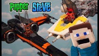 Five Nights at Freddy's Star Wars Lego Pt 2 Last Jedi Movie X-wing Y-Wing Battle Mcfarlane Fnaf