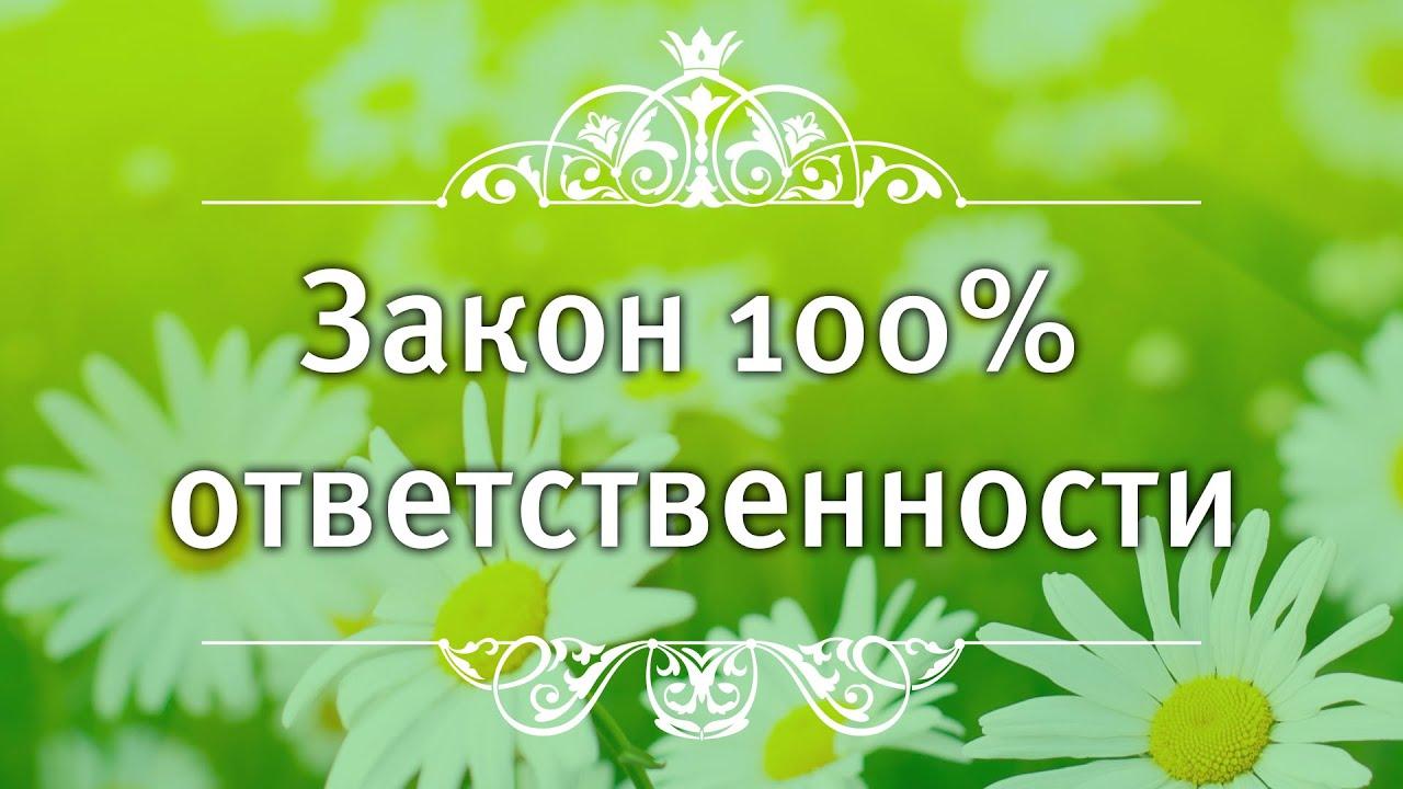 Екатерина Андреева - Закон 100% ответственности.