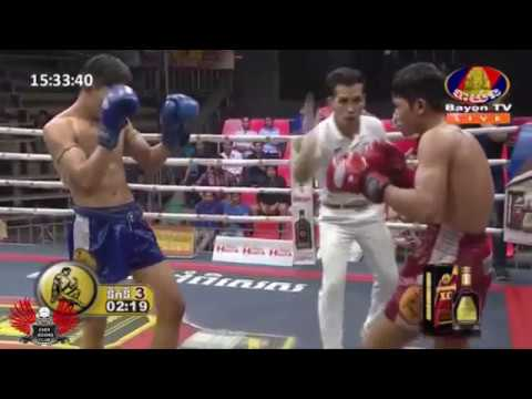 Phoal vichet VS Pich sa chanrach  boxing  on bayon TV 10-02-2018
