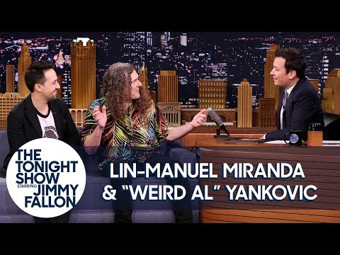"Jimmy Geeks Out with Lin-Manuel Miranda and ""Weird Al"" Yankovic Over Hamilton and Music"