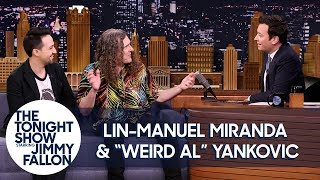 jimmy geeks out with lin manuel miranda and weird al yankovic over hamilton and music