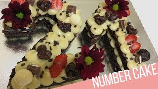 BOLO NUMERAL DE BROWNIE || NUMBER CAKE