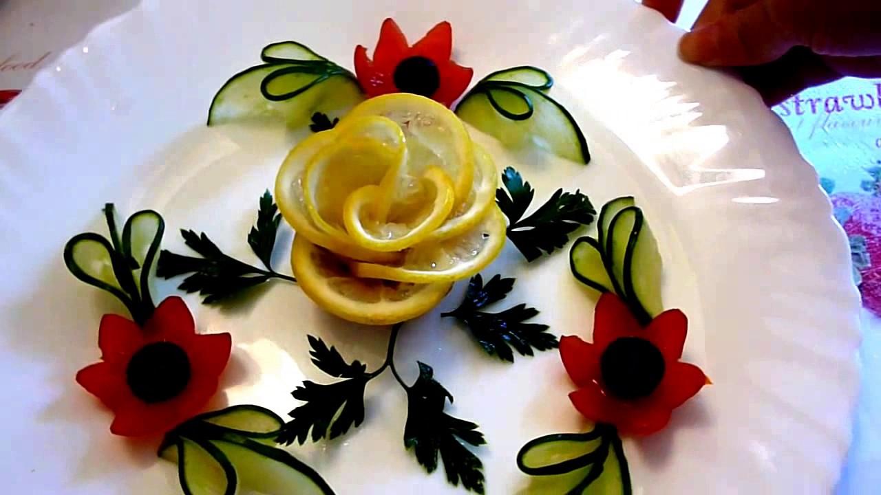 8 LIFE HACKS HOW TO MAKE LEMON GARNISH DESIGN FLOWER
