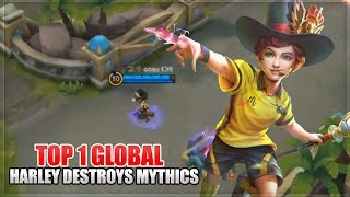 How to become MLBB Pro: Harley Out Classes Mythics - Top 1 Global Harley Build - Mobile Legends