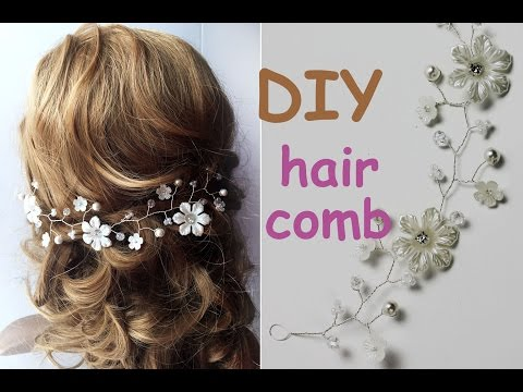 EASY DIY  Hair Comb Tiara Bridal Headpiece Hair Vine Tutorial Crown