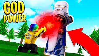 THE STRONGEST PLAYER gave me HIS LEGENDARY POWER.. (Roblox)