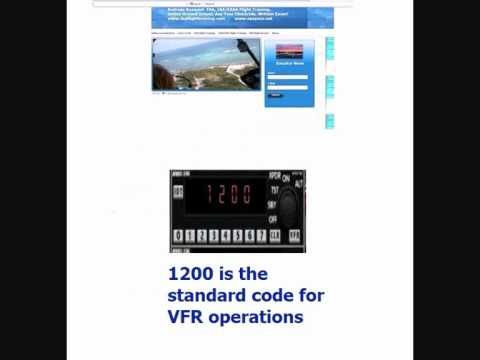 Transponder, Squawk Codes  1200, 7500, 7600, and 7700  Andreas Rosquist