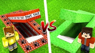 TNT GİZLİ GEÇİT VS SLİME GİZLİ GEÇİT! 😱 - Minecraft