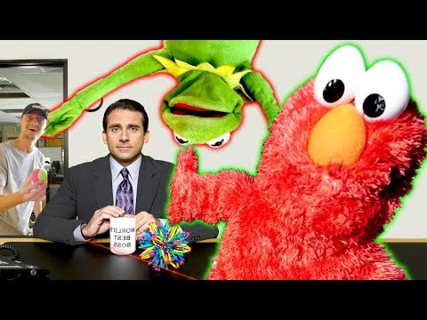 Elmo & Kermit The Frog Visits the OFFICE - FT BestInClass