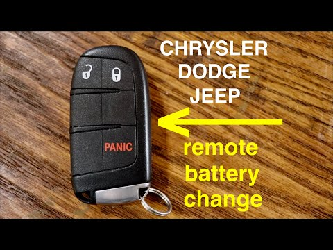 How to ● Dodge Chrysler Jeep Key Fob Remote Keyless Battery Change/Replace