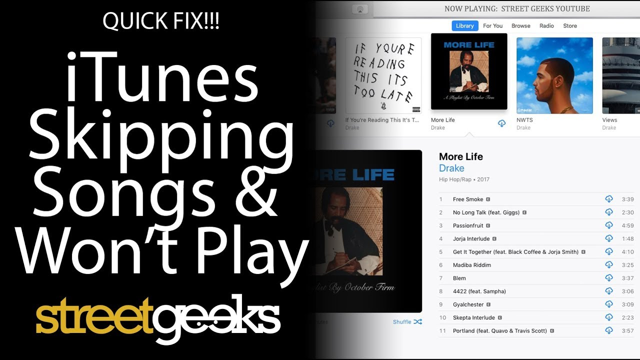 QUICK FIX!!! iTunes/Apple Music Skipping Songs