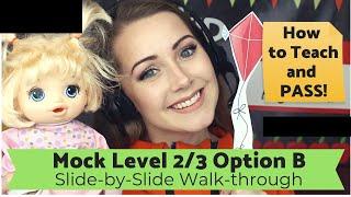 NEW! VIPKID Lower Level 2/3 (B) Mock Class Certification Walk-through