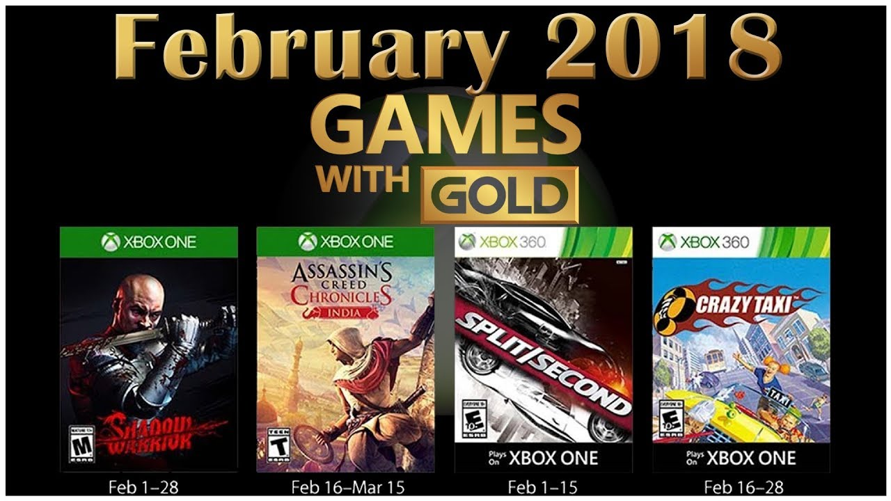 Xbox Live Games With Gold February 2018