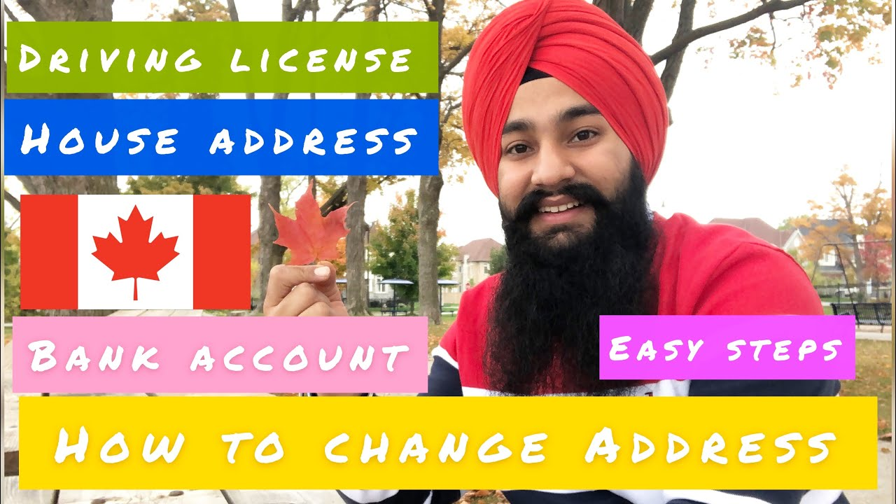 How To Change Address on Documents In Canada