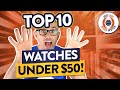 Top 10 Watches Under $50 - Seiko, Casio, Timex, Guanqin, Cadisen...