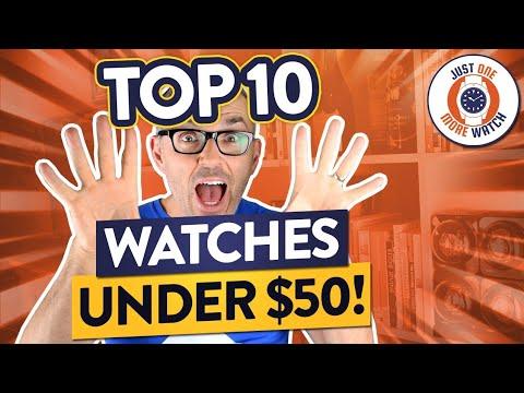 Top 10 Watches Under $50 - Seiko, Casio, Timex, Guanqin, Cadisen...