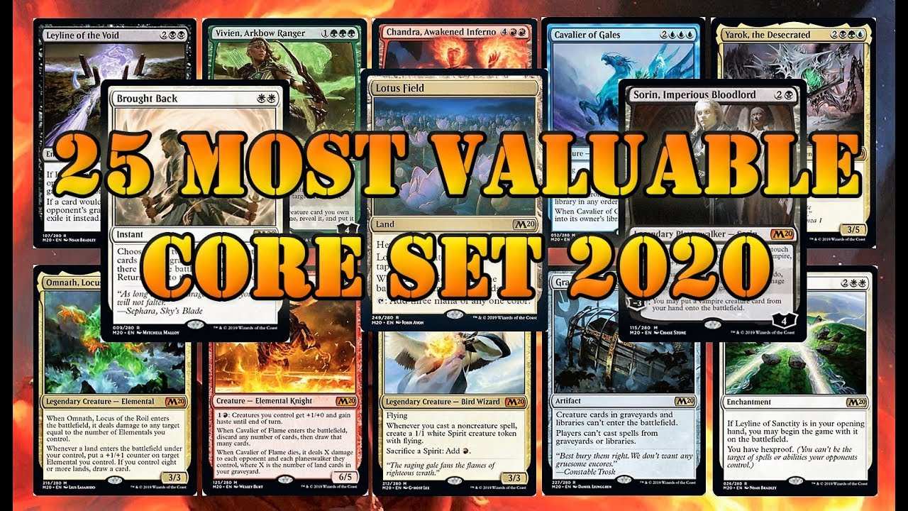 Mtg Banned List 2020.Core Set 2020 Price Guide Mtg Cards