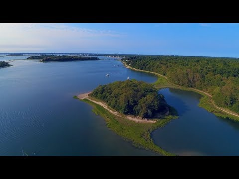 Bourne Massachusetts Monument Beach Aerial Footage