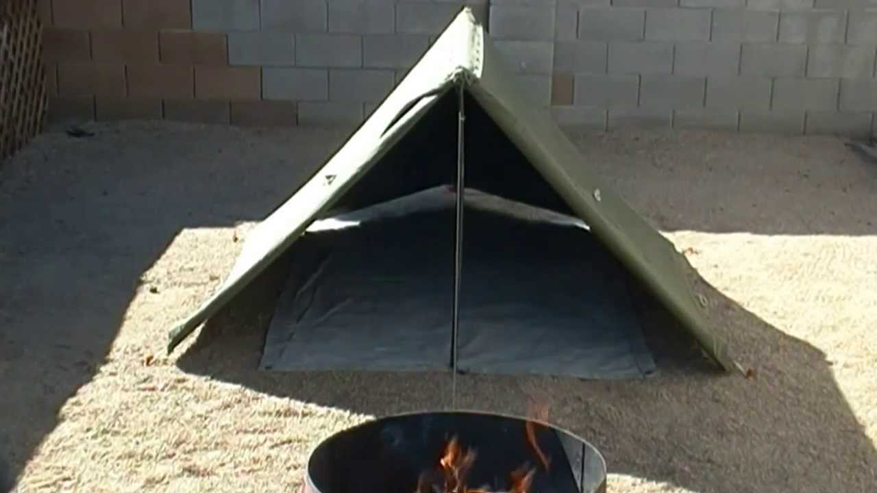 & Military Surplus Sleep System And Canvas Pup Tent Review - YouTube
