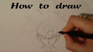 How to draw - Teen Gohan