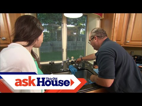How To Repair A Leaky Kitchen Faucet Youtube