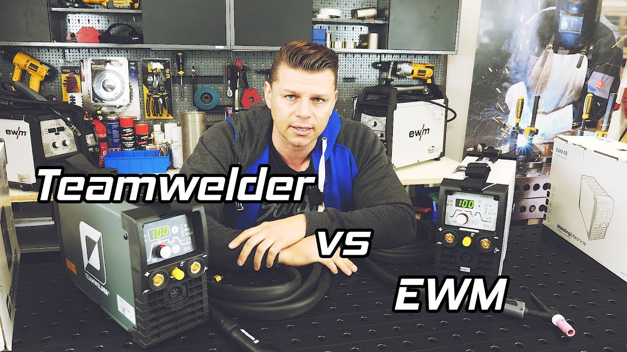 schweißgeräte vergleich tig 180 dc puls teamwelder vs. ewm picotig