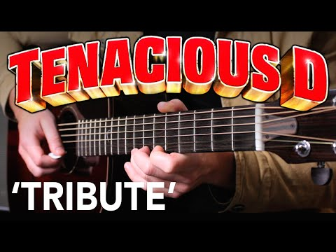 Tenacious D 'Tribute' Acoustic Guitar Tutorial - How To Play
