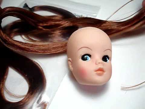 How to reroot a doll using the Knot Method - YouTube