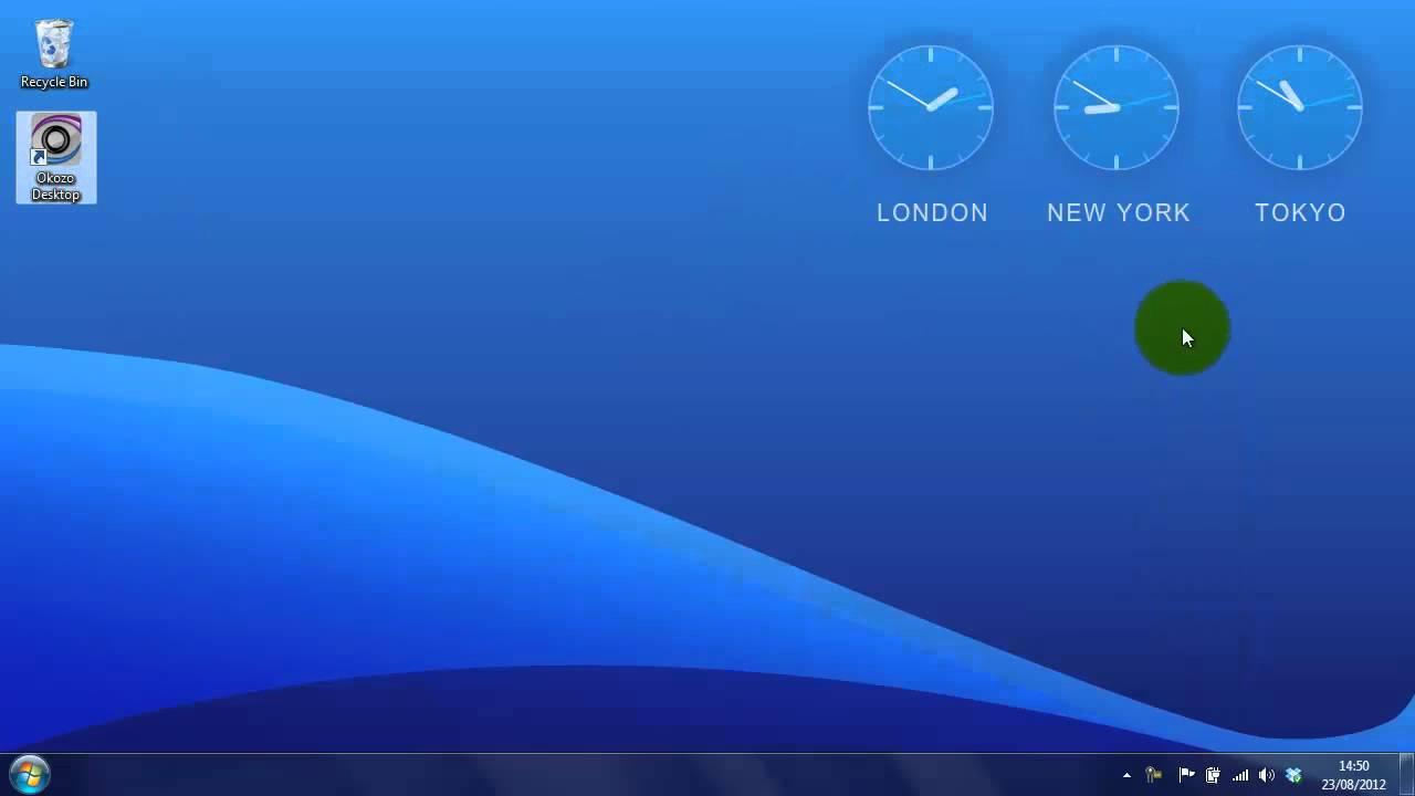 World Times Desktop Clock Wallpaper