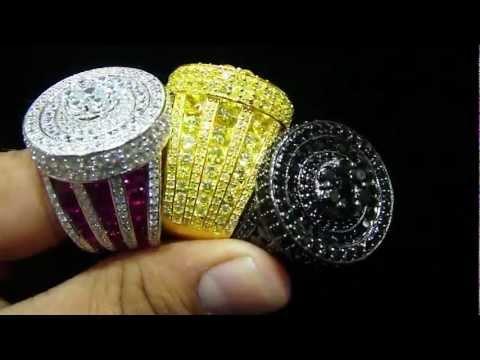 Mr Chris Da Jeweler Custom Lab Diamond .925 Sterling Silver Exclusive Ring Vide0 No : SR4417