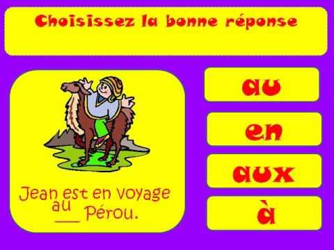 LEARN FRENCH - Les Prépositions Avec Les Noms Des Pays Et Villes