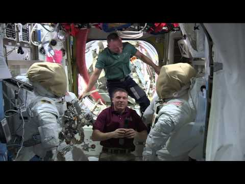 Space station crew talks space with media
