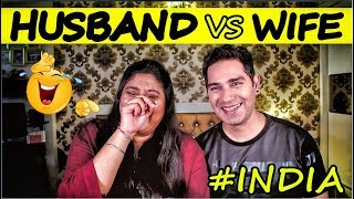 Husband and Wife   Tag Question Games   Indian couples funny
