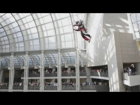Jet Packs: A thing of the future? Man uses hydrogen and nitrogen-powered jet pack