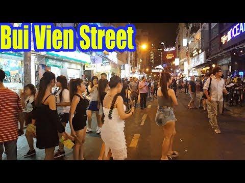 Bui Vien Street Famous Backpacker Walking Street Saigon   Vietnam Travel