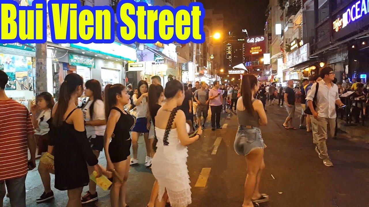 Bui Vien Street Famous Backpacker Walking Street Saigon | Vietnam Travel