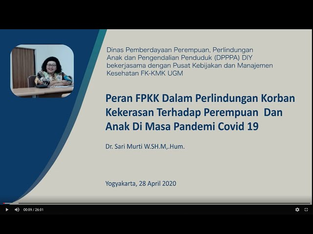 Peran FPKK Dalam Perlindungan  Perempuan dan Anak DiMasa Covid19_Dr.Sari Murti W. SH M, Hum