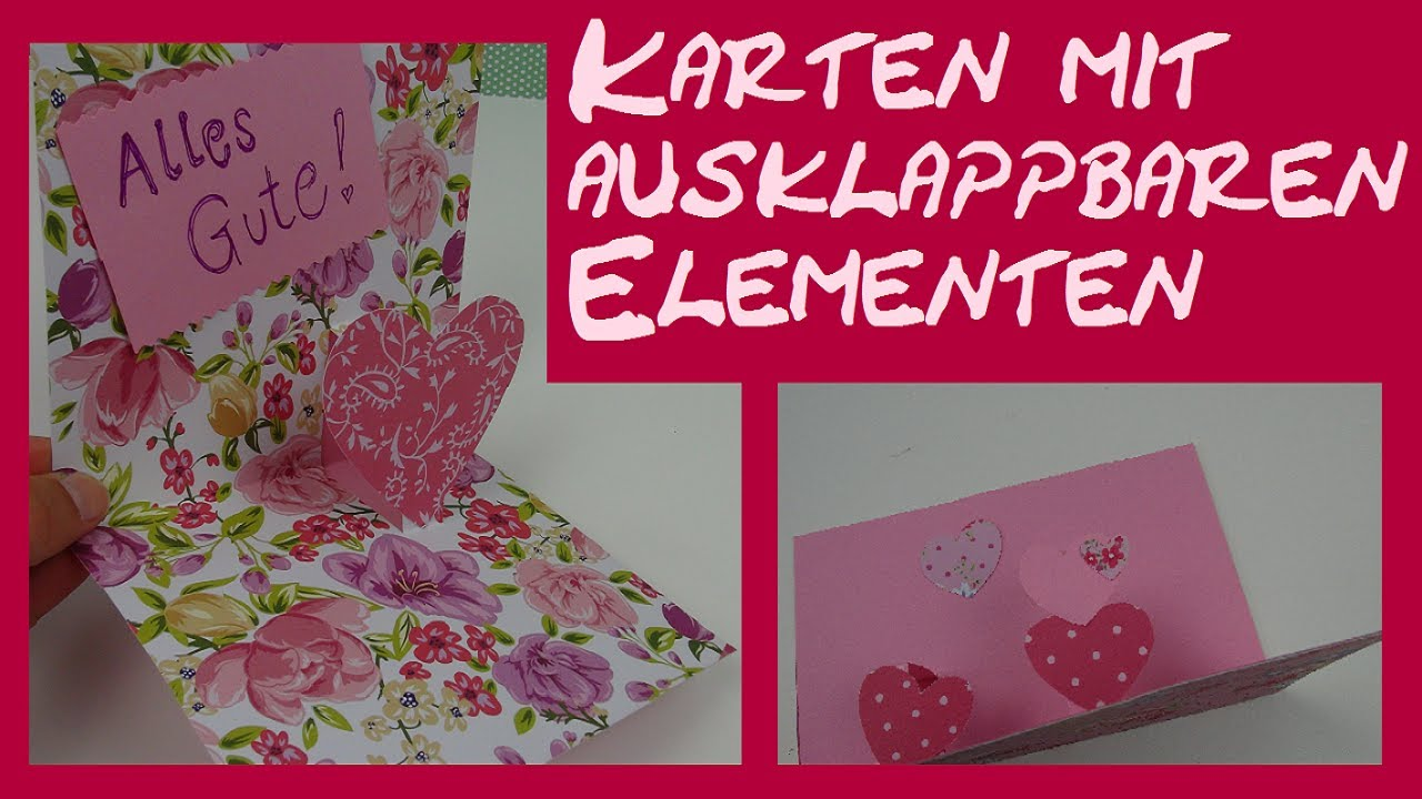diy basteln einer pop up karte zur hochzeit zum geburtstag youtube. Black Bedroom Furniture Sets. Home Design Ideas