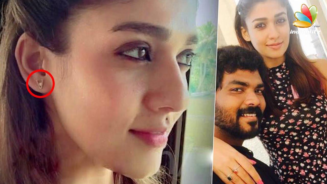 Nayanatara Cute Wallpapers Nayanthara Puts V Initial Earrings Hinting Vignesh Shivan