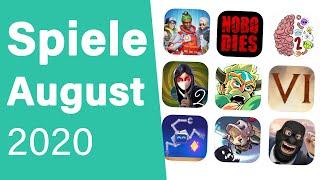 Top Spiele für Android & iOS - August 2020