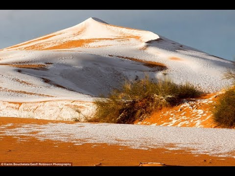 In the Sahara desert, snow fell again