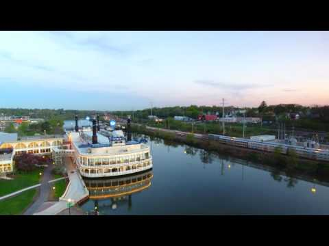 Elgin, IL And The Fox River - Aerial Video And Still Shot With DJI Phantom 4
